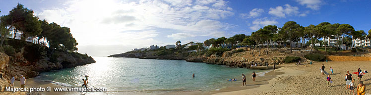 Holiday beach in Majorca, Spain